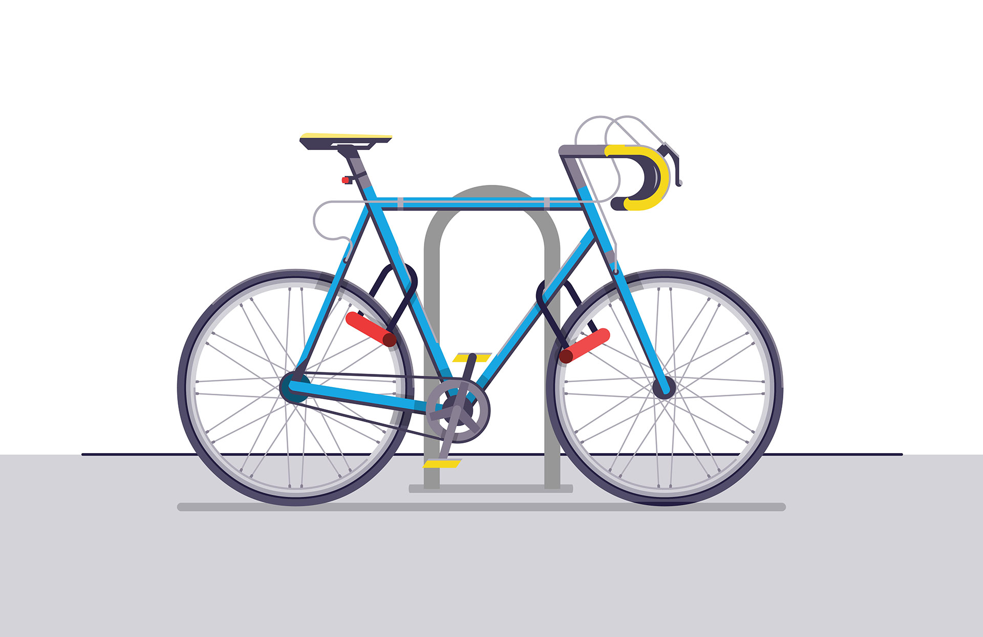 Great way to anchor your bike (and a good way to lock it altogether).